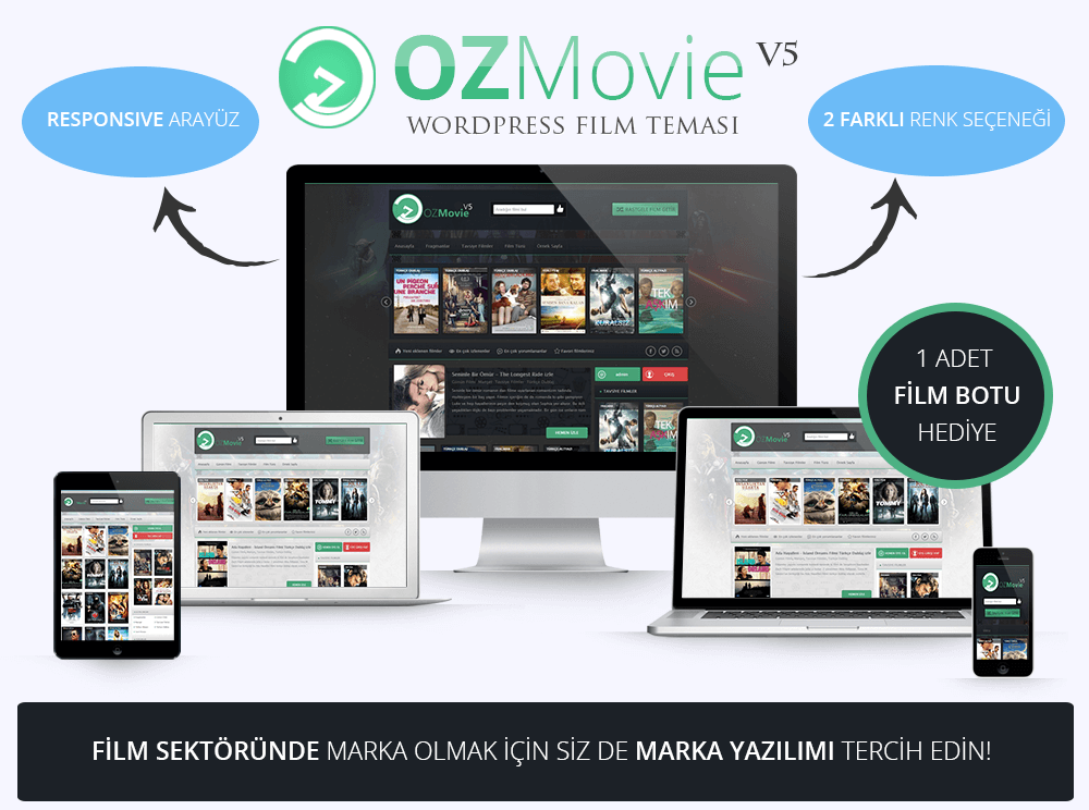 Oz Movie v4 Film Teması wordpress